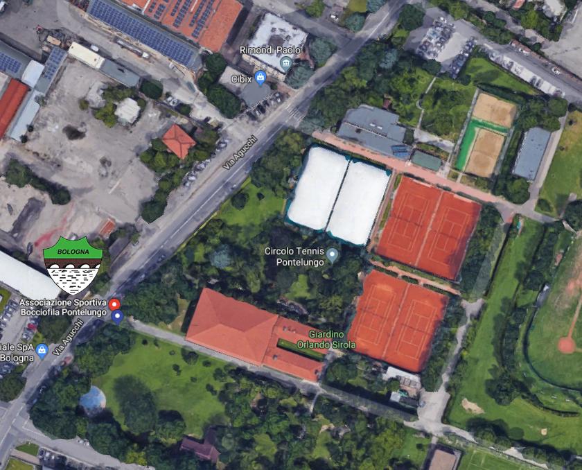 polisportiva pontelungo Bologna veduta aerea
